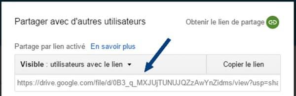 pièce jointe Google Drive