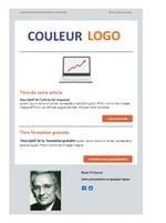 template email au couleur du logo