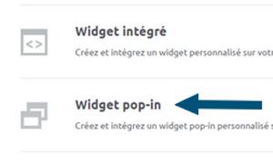 widget formulaire